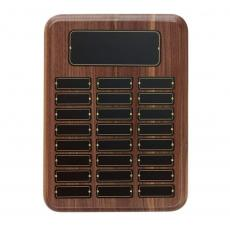 Awards & Recognition Ideas for Employees - American Walnut Perpetual Plaque