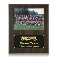 Customizable Plaque Awards - Photo Plaque - Walnut Finish