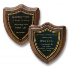 Customizable Plaque Awards - Contemporary Shield