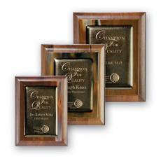 Awards & Recognition Ideas for Employees - Metallic Fusion Plaque - Brown