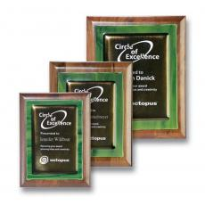 Awards & Recognition Ideas for Employees - Metallic Fusion Plaque - Green