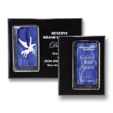 Art Glass Awards & Trophies - Fusion Plaque - Sapphire