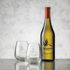 Wine & Champagne - Chardonnay - Deep Etch & Brunswick Wine Set