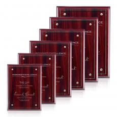 Awards & Recognition Ideas for Employees - Dufferin Plaque - Rosewood/Jade