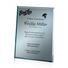 Customizable Plaque Awards - Mirror Plaque - Silver