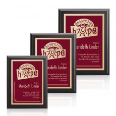 Customizable Plaque Awards - Farnsworth / Simplicity - Black/Burgundy