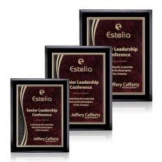 Customizable Plaque Awards - Farnsworth/Finch - Black/Red