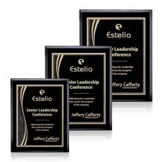 Customizable Plaque Awards - Farnsworth/Finch - Black/Black