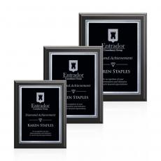 Customizable Plaque Awards - Farnsworth/Savoy - Black/Black