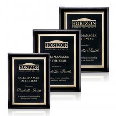 Customizable Plaque Awards - Farnsworth/Ashbury - Black/Black