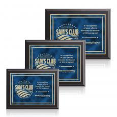 Customizable Plaque Awards - Farnsworth / Contempo - Blue