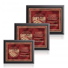 Customizable Plaque Awards - Farnsworth / Contempo - Red
