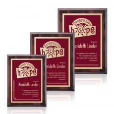 Customizable Plaque Awards - Farnsworth/Simplicity - Cherry/Burgundy