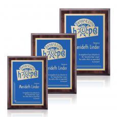 Customizable Plaque Awards - Farnsworth/Simplicity - Cherry/Blue