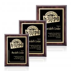 Customizable Plaque Awards - Farnsworth/Simplicity - Cherry/Black