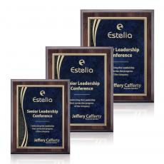 Customizable Plaque Awards - Farnsworth/Finch - Cherry/Blue