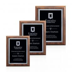 Customizable Plaque Awards - Farnsworth/Savoy - Cherry/Black