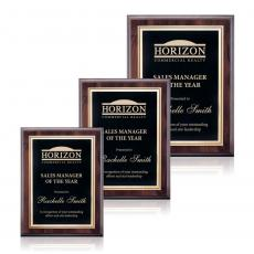 Customizable Plaque Awards - Farnsworth/Ashbury - Cherry/Black