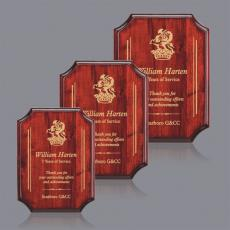 Customizable Plaque Awards - Orsina Plaque - Rosewood