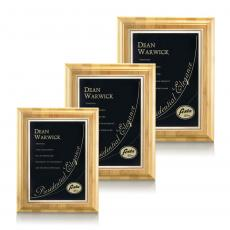Customizable Plaque Awards - Bamboo/Ashbury