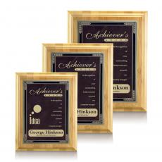 Customizable Plaque Awards - Bamboo/Cardinal - Burgundy