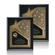 Awards & Recognition Ideas for Employees - Braxton Plaque - Black/Gold