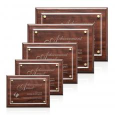 Customizable Plaque Awards - Ulster Plaque - Cherry