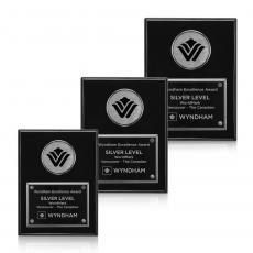 Customizable Plaque Awards - Jansenn - Black/Chrome