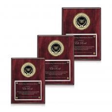 Customizable Plaque Awards - Jansenn - Rosewood/Gold