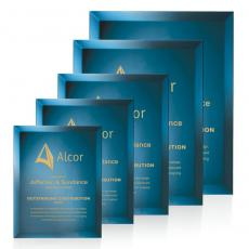 Awards & Recognition Ideas for Employees - Mirror Plaque - Blue