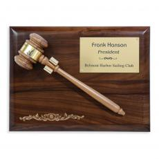 Customizable Plaque Awards - Gavel Plaque - Removeable