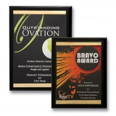 Full Color Plaques - Brass Channel Plaque