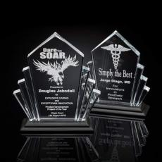 Distinguished Marble & Stone Plaques and Trophies - Flash Award - Acrylic/Black