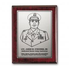 Customizable Plaque Awards - Etch/Oxidized Plaq - Rosewood