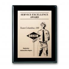 Customizable Plaque Awards - Etch/Oxidized Plaq - Ebony