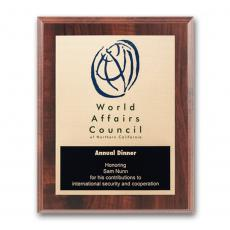 Full Color Plaques - Etch/Colorfill Plaq - Walnut Finish