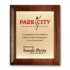 Full Color Plaques - Screenprint Brass - Walnut Rolled Edge