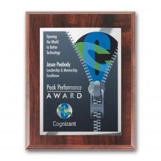 Customizable Plaque Awards - SpectraPrint™ Plaque - Walnut Finish