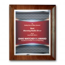 Full Color Plaques - SpectraPrint™ Plaque - Walnut Rolled Edge