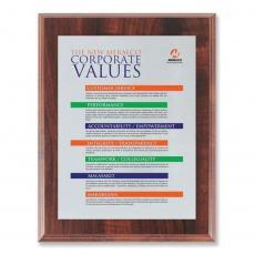 Customizable Plaque Awards - Screenprint Aluminum - Walnut Finish