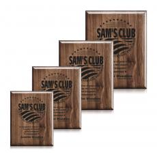Customizable Plaque Awards - Laser Engraved Plaq - Walnut Piano Finish