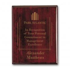 Customizable Plaque Awards - Laser Engraved Plaq - Rosewood