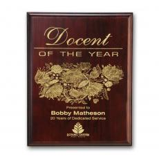 Customizable Plaque Awards - Laser Engraved Plaq - Mahogany
