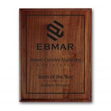 Customizable Plaque Awards - Laser Engraved Plaq - Walnut Cove Edge