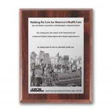 Photo Plaques - Metal Photo Plaq - Walnut Finish