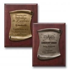 Customizable Plaque Awards - Scroll Plaque
