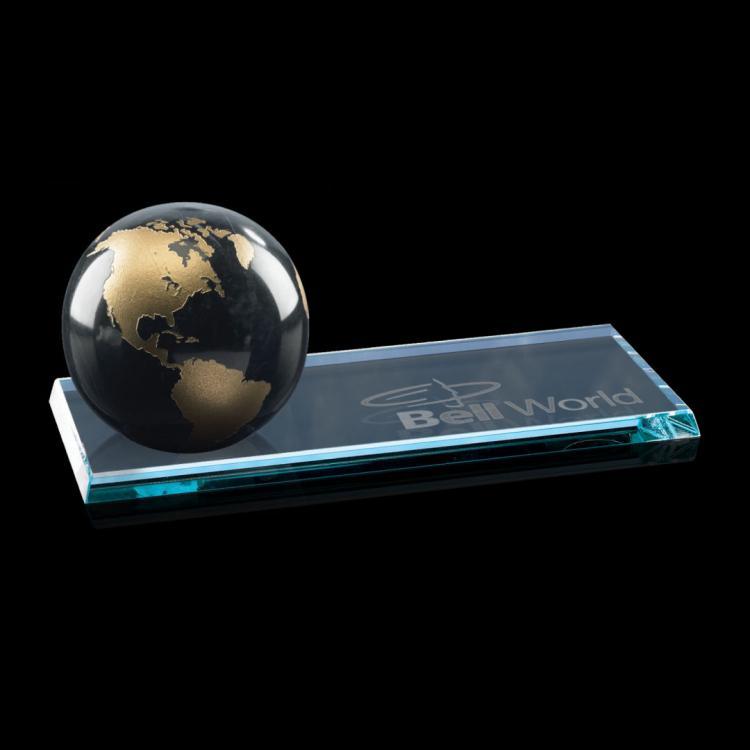 Globe on Starfire - Black