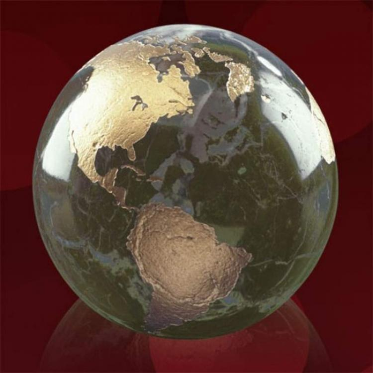 Gold Filled Globe - Green