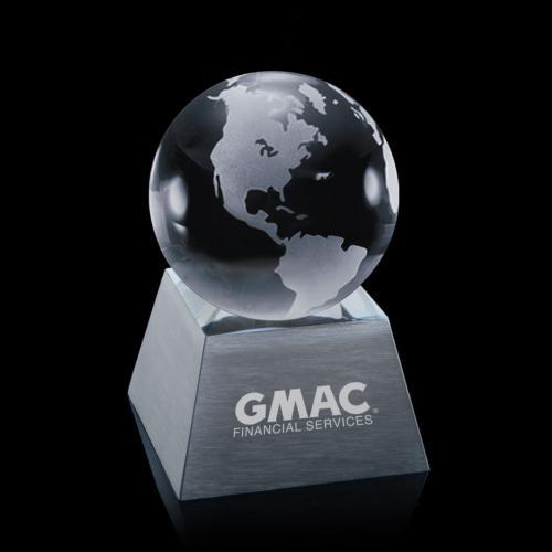 Globe on Aluminum Base