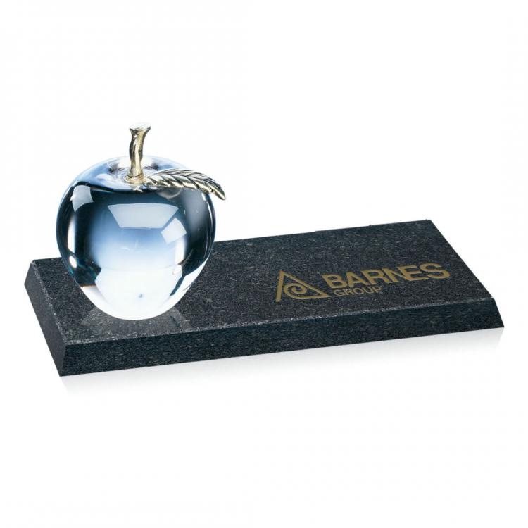 Apple/Brass Stem on Granite Base